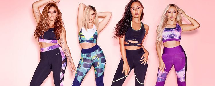 Little Mix luciendo los looks deportivos de su colección para USA Pro