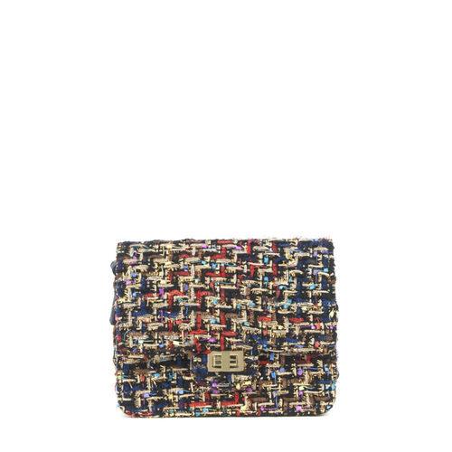 Clutch de tela multicolor de la colección Primavera-Verano 2018 de Merkal Calzados