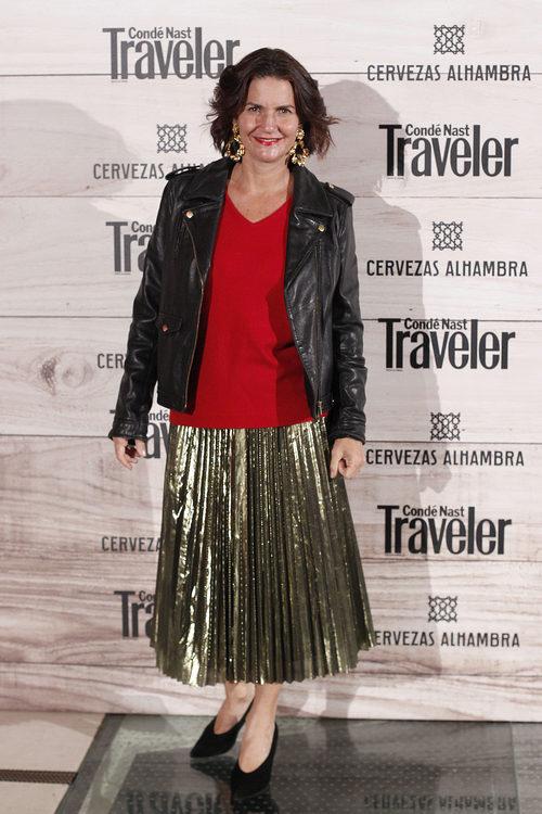 Samantha Vallejo Nágera con un estilismo desacertado en una presentación en Madrid