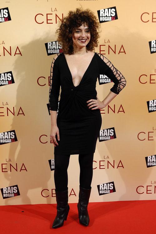 Virginia Riezu con un look aburrido en el estreno de 'La Cena' en Madrid