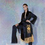 Kimono con flecos de Sfera colección Navidad 2017