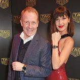 Bella Hadid y Rob Diver presentando el reloj 'Link Lady' de Tag Heuer en Londres