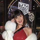 Bella Hadid posando en la presentación de la nueva boutique de Tag Heuer en Londres