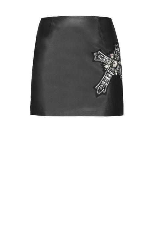 Falda de cuero de Pinko de la colección para esta Navidad 2017