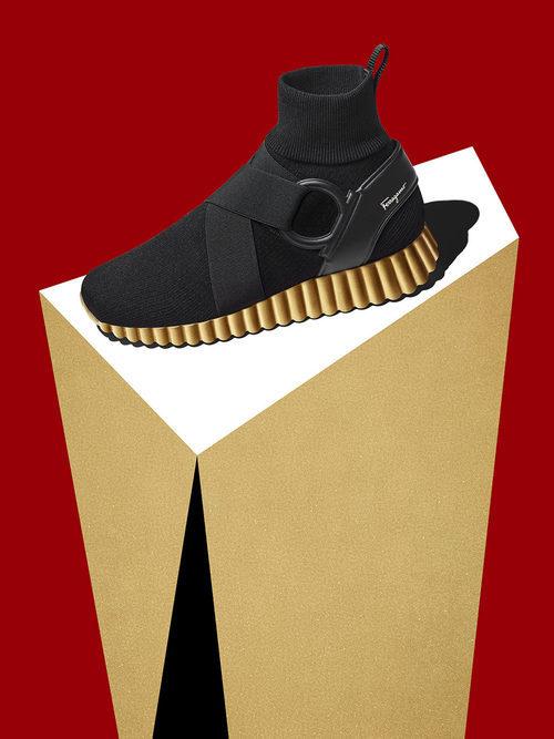 Zapatillas deportivas de la colección Navidad 2017 de Salvatore Ferragamo