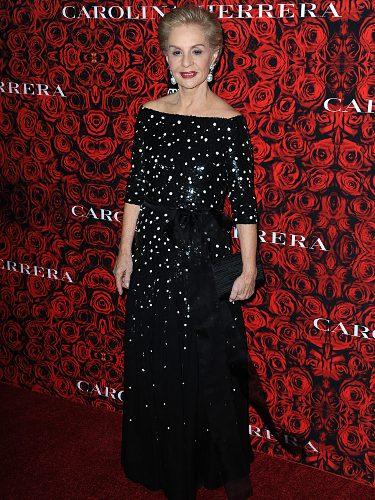 Carolina Herrera con un look de gala en una velada en su honor en Nueva York