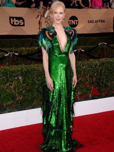 Nicole Kidman con vestido de Gucci en los SAG Awards 2017