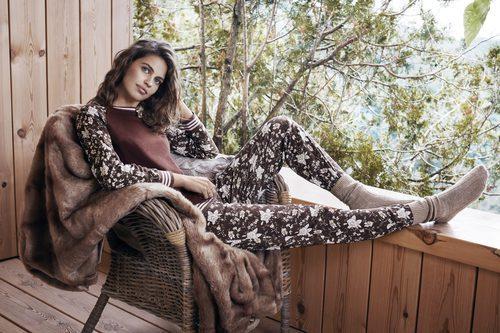 Pijama marrón de Promise de la colección 'Pijama Party' para este invierno