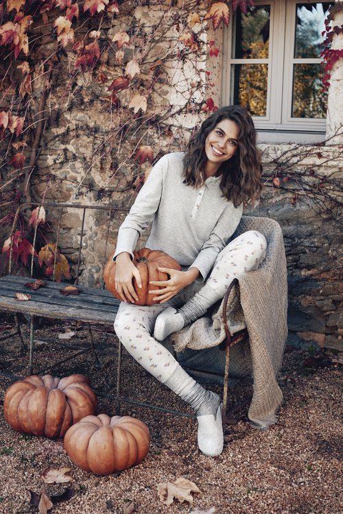Pijama gris de Promise de la colección 'Pijama Party' para este invierno