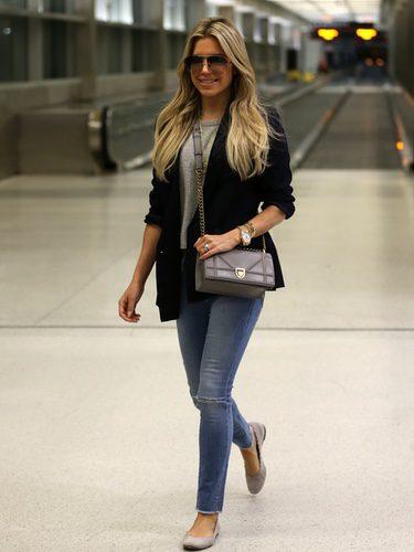 Sylvie Meis con un look casual en el aeropuerto internacional de Miami