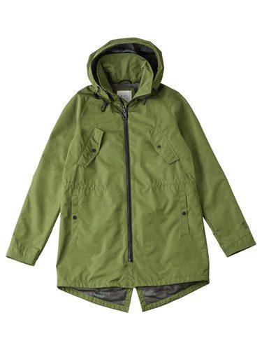 Parka verde con capucha para hombre de la colección de Primavera-Verano 2018 de Esprit