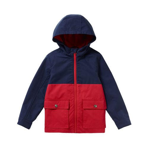 Chaqueta bicolor con capucha para niño de la colección de Primavera 2018 de Benetton
