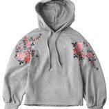 Sudadera gris con capucha para mujer de la colección de Primavera-Verano 2018 de Esprit