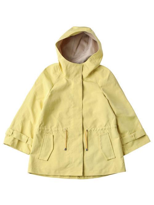 Impermeable amarillo con capucha para mujer de la colección de Primavera-Verano 2018 de Esprit