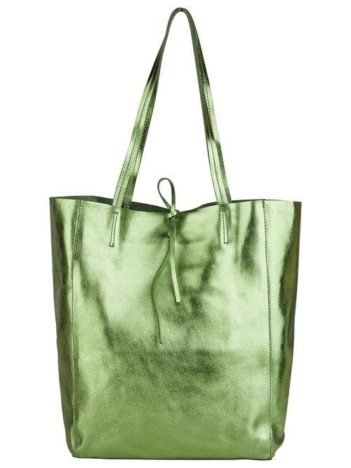 Bolso tipo saco verde metalizado para mujer de la colección de Primavera-Verano 2018 de Esprit