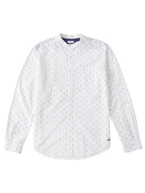 Camisa blanca con anclas para hombre de la colección de Primavera-Verano 2018 de Esprit