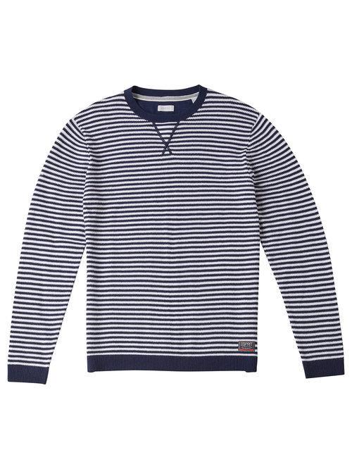Jersey de punto a rayas para hombre de la colección de Primavera-Verano 2018 de Esprit