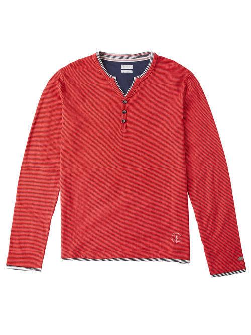 Camiseta roja con rayas horizonrales para hombre de la colección de Primavera-Verano 2018 de Esprit