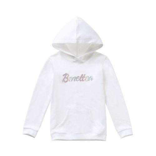 Sudadera blanca con logo Benetton para niña de la colección de Primavera 2018 de Benetton