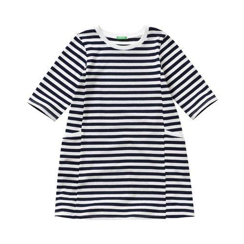 Vestido de rayas horizontales para niña de la colección de Primavera 2018 de Benetton