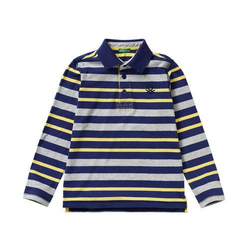 Polo a rayas para niño de la colección de Primavera 2018 de Benetton