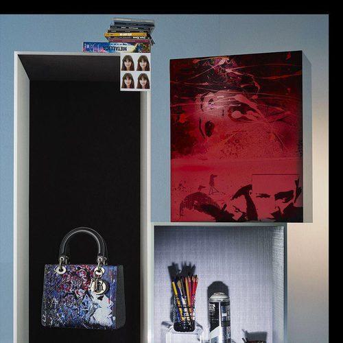 Bolso creado por Betty Mariani de la colección 'Lady Dior Art' de la firma de lujo Dior