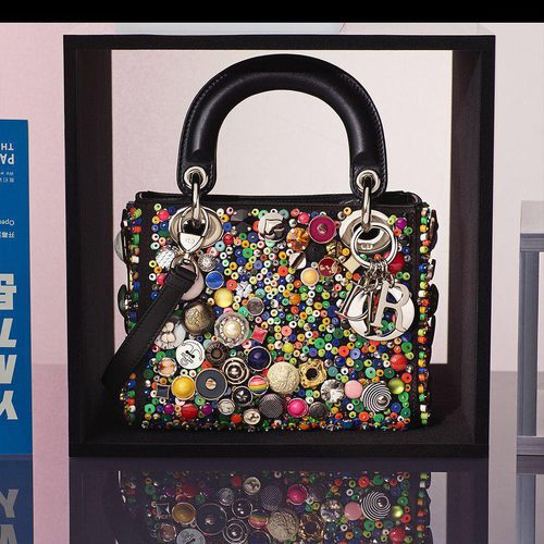 Bolso multicolor de Hong Hao de la colección 'Lady Dior Art' de Dior