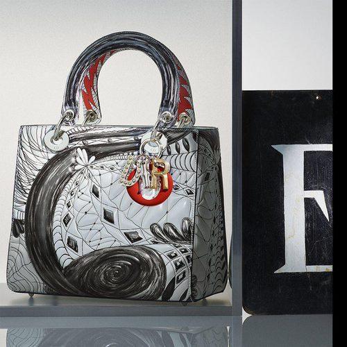 Bolso en tonos neutros de Jack Pierson de la colección 'Lady Dior Art' de Dior