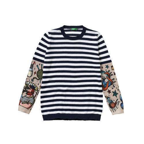 Jersey de rayas para niño de la colección de Primavera 2018 de Benetton