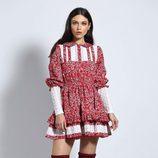 Vestido rojo de flores de Guts & Love de la colección otoño/invierno 2018