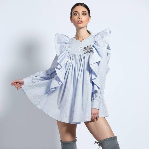 Vestido camisero azul de Guts & Love de la colección otoño/invierno 2018