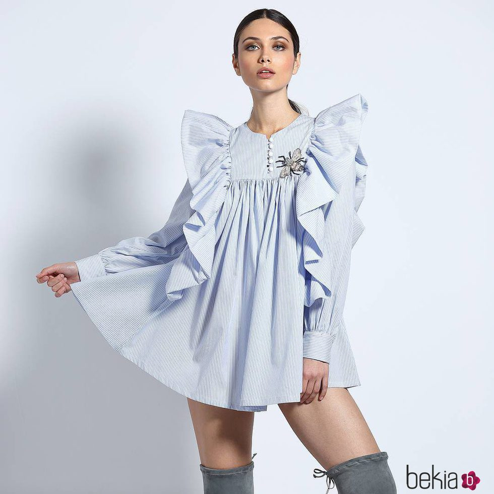 1b38053fec Anterior Vestido camisero azul de Guts   Love de la colección otoño invierno  2018