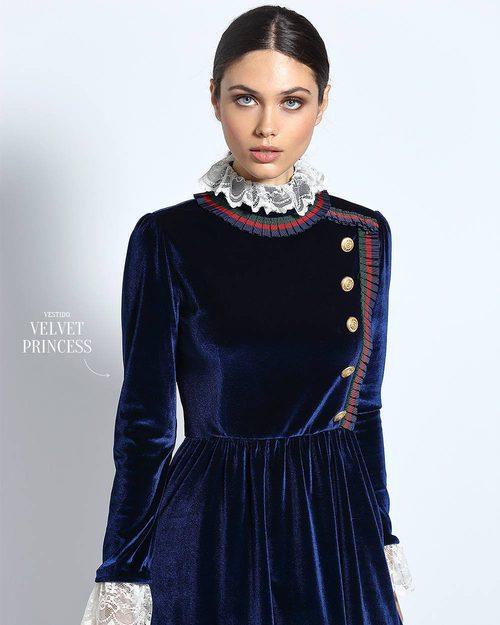 Vestido velvet de Guts & Love de la colección otoño/invierno 2018