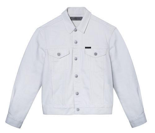 Chaqueta blanca masculina de Calvin Klein de la colección primavera jeans 2018