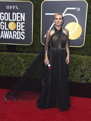 Diane Kruger vestida de Prada en los Globos de Oro 2018