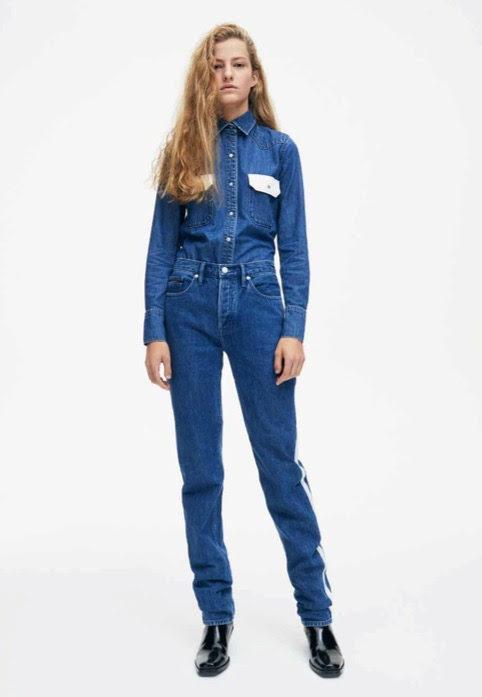 Total denim femenino de Calvin Klein de la colección primavera jeans 2018