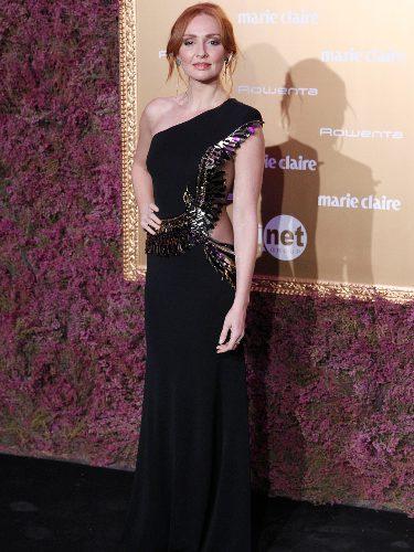 Cristina Castaño con un look de Elisabetta Franchi en los Premios Marie Claire 2017