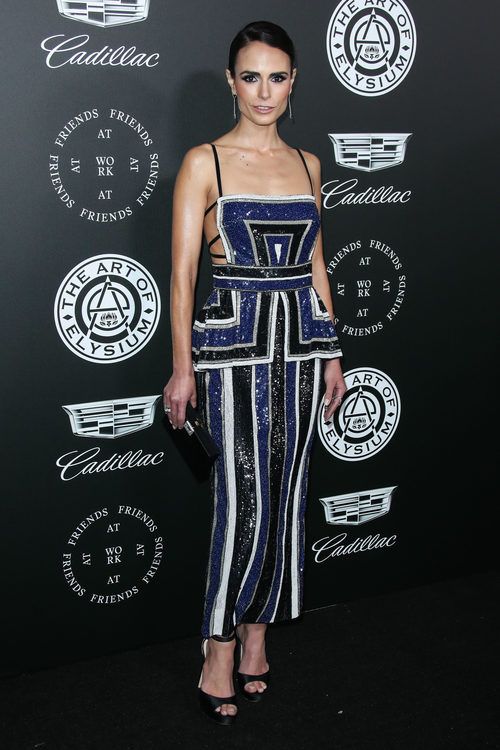 Jordana Brewster con un diseño de Naeem Khan en la gala TAOE Heaven 2018