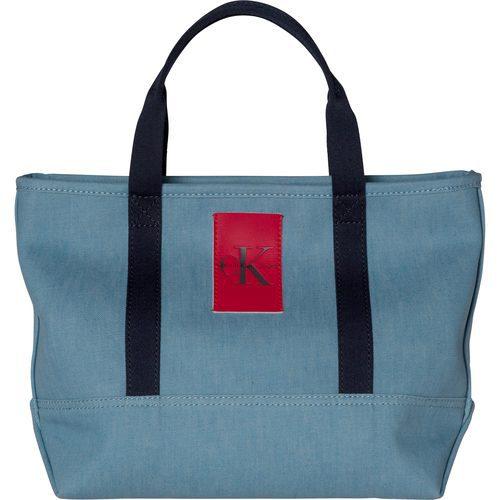 Bolso de mujer azul claro de la colección de accesorios spring 2018 de Calvin Klein