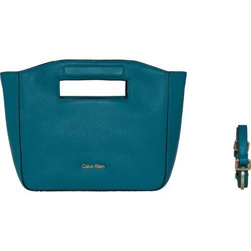 Bolso de mano azul de la colección de accesorios spring 2018 de Calvin Klein