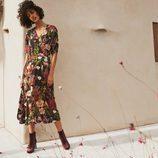 Vestido estampado floral de la colección de H&M Resort 2018
