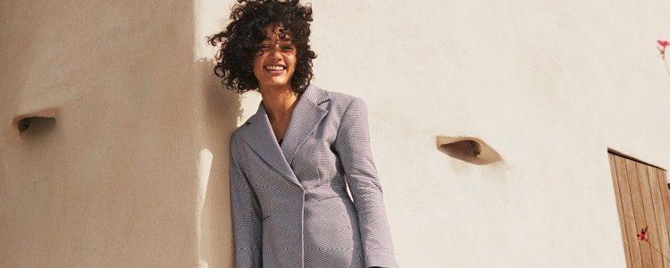 Traje-pantalón gris de la colección de H&M Resort 2018