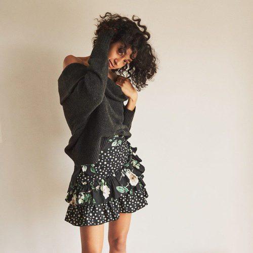 Falda de volantes negra de la colección de H&M Resort 2018