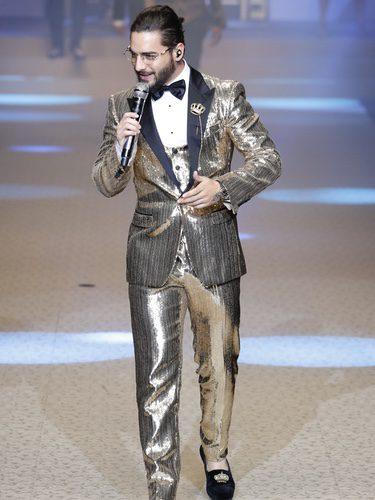 Maluma en el desfile de Dolce & Gabbana en la Semana de la Moda de Milán