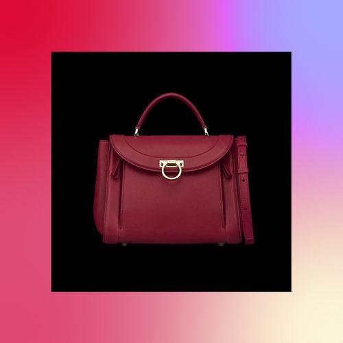 Frontal bolso rojo de la colección Pre-Spring 2018 de Salvatore Ferragamo