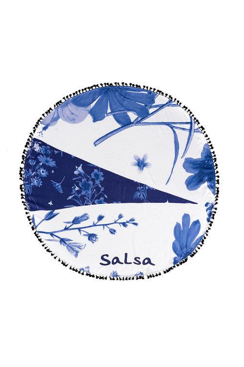 Toalla redonda de la colección de accesorios para la temporada de primavera/verano 2018 de Salsa.
