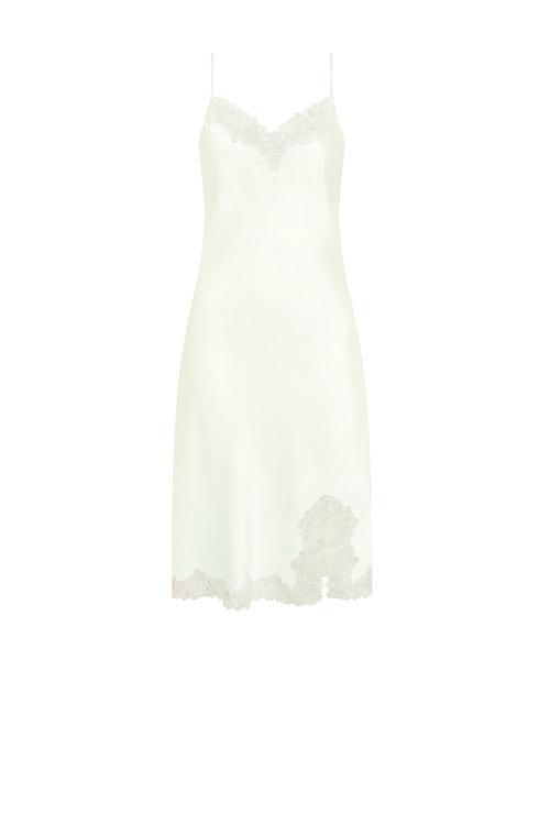 Camisón lencero de tirantes y encaje de la colección especial para novias de Triumph
