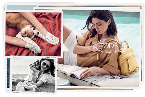 Tres fotografías de la campaña primavera/verano 2018 de Tod´s protagonizada por Kendall Jenner