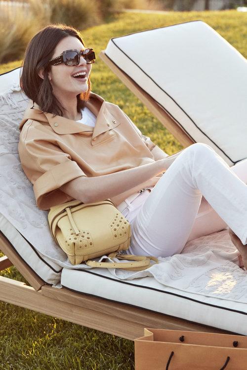 Blusa marrón de la campaña primavera/verano 2018 de Tod´s protagonizada por Kendall Jenner