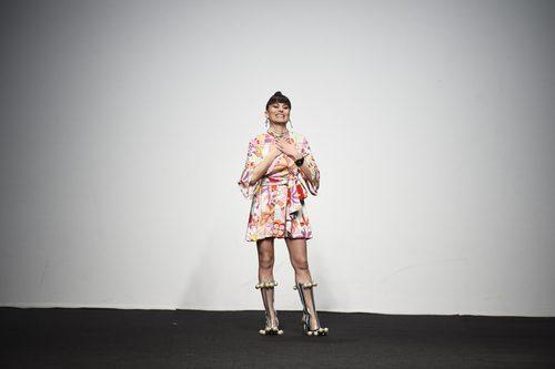 María Escote presentando la campaña otoño/invierno 2018/2019 en la Madrid Fashion Week